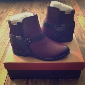 Pikolinos Ordino Leather/Suede Engineer Boot